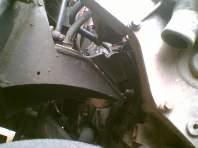 Underside of 200tdi engine mount in Series Land Rover