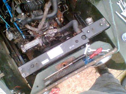 200tdi radiator in a Series Land Rover