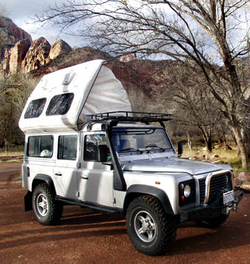 Defender 110 Dormobile. Next a Martin Walter factory Dormobile: Land Rover