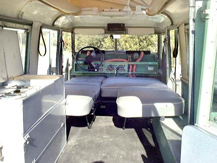 Land Rover Dormobile Seating