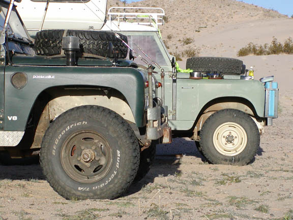 Land Rover front wheel arches
