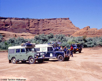 Land Rover Dormobile rest stop
