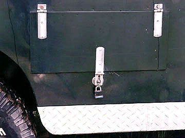 Land Rover side door for propane tank