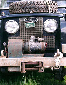 Mercury winch mounted on a Land Rover