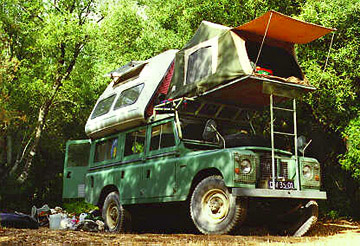 Land Rover Dormobile in Sardinia