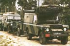 Military Land ROver Carawagon