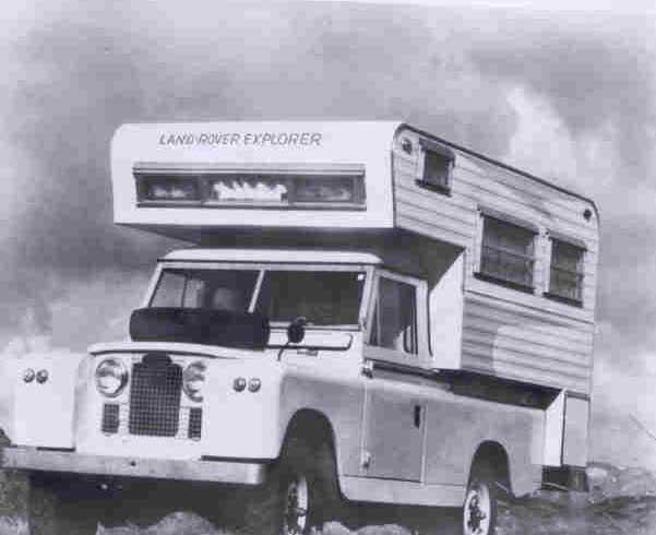 Land Rover with camper