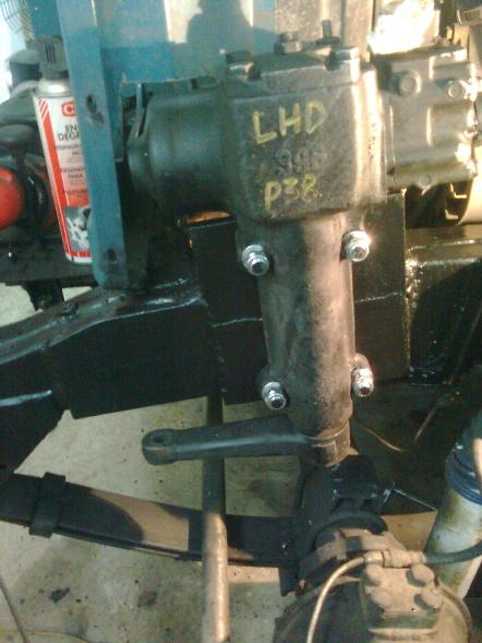 Converting a series Land Rover to power steering on