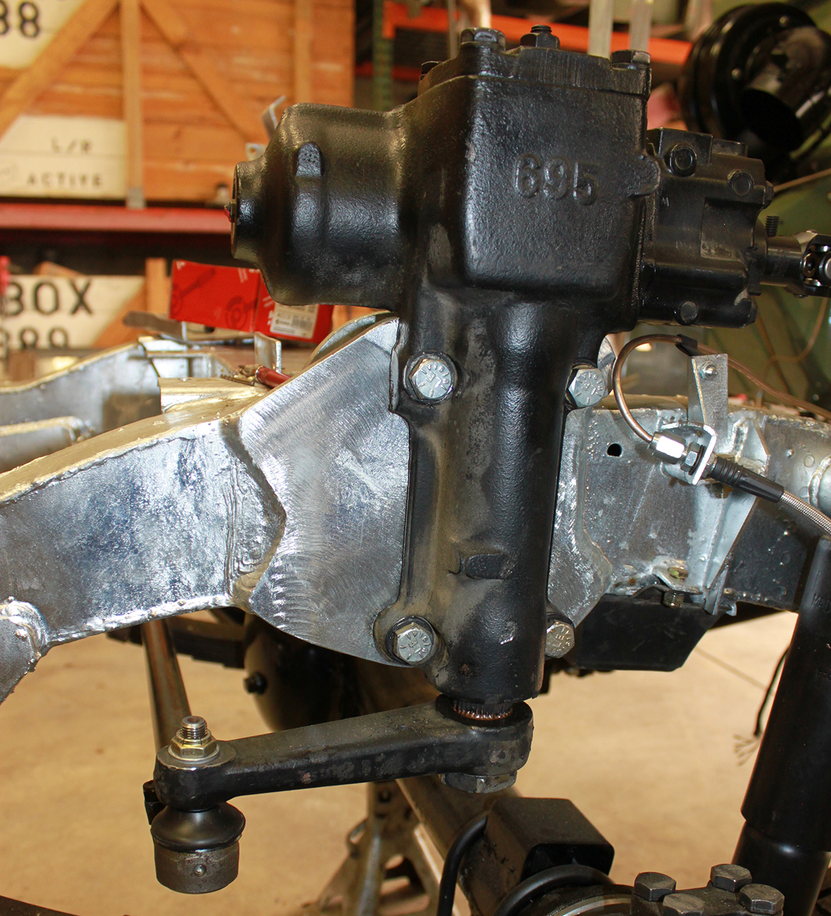 Converting a series Land Rover to power steering